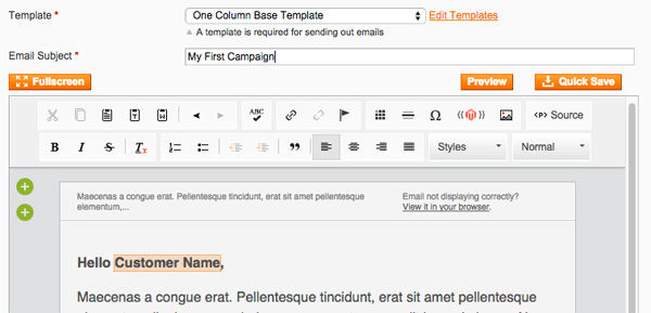 Email Editor Preview